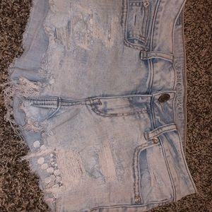 American eagle shortie, lace accent